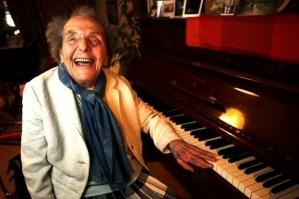 A Joyful Alice Herz-Sommer late in life.